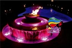 آبنما آب و آتش فضای باز (4)