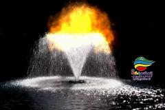 آبنما آب و آتش فضای باز (3)